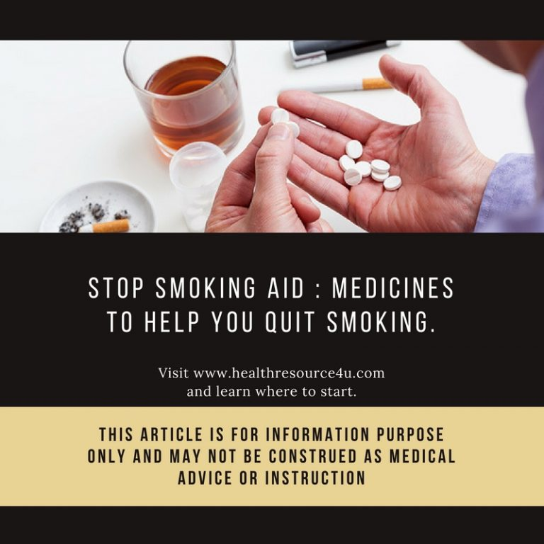 Medicines to Help You Quit Smoking