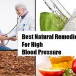 Natural Remedies Against High Blood Pressure