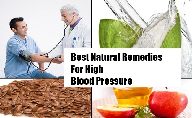 Natural Remedies Against High Blood Pressure