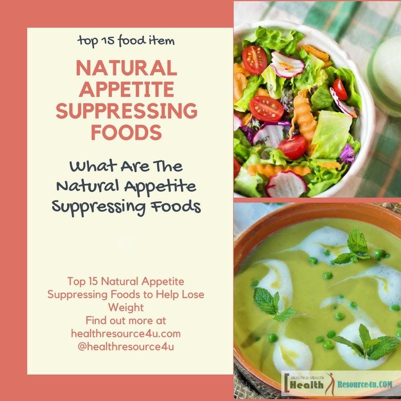 Natural Appetite Suppressing Foods