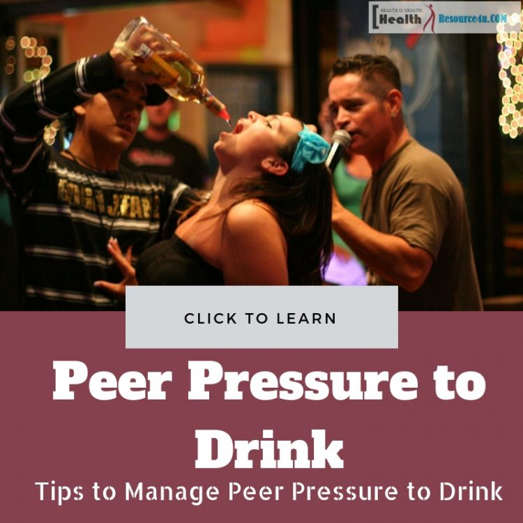 Manage Peer Pressure to Drink