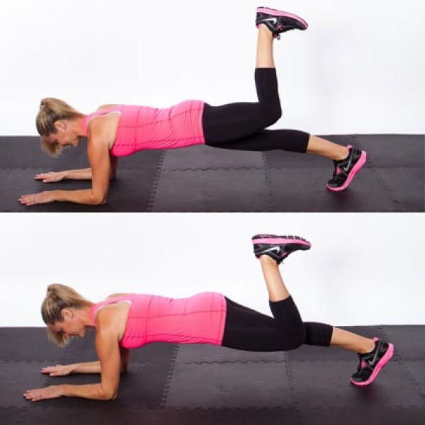 Plank Heel Push Workout