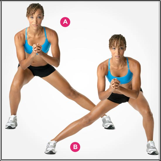 Side Lunge Side Crunch Workout