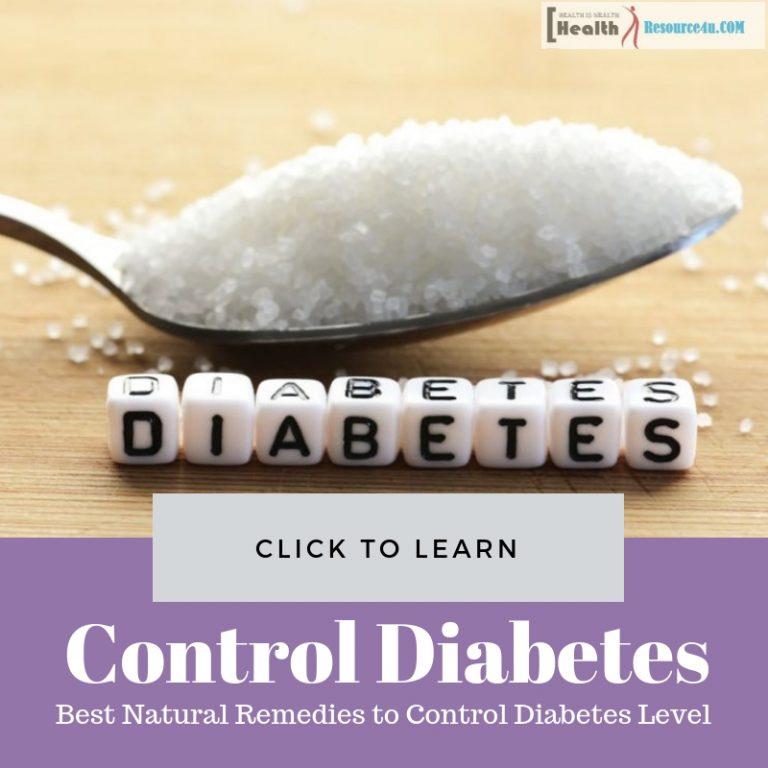 Remedies to Control Diabetes Level