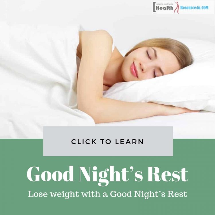 Lose weight with a Good Nights Rest