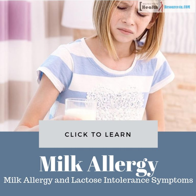 Milk Allergy and Lactose Intolerance