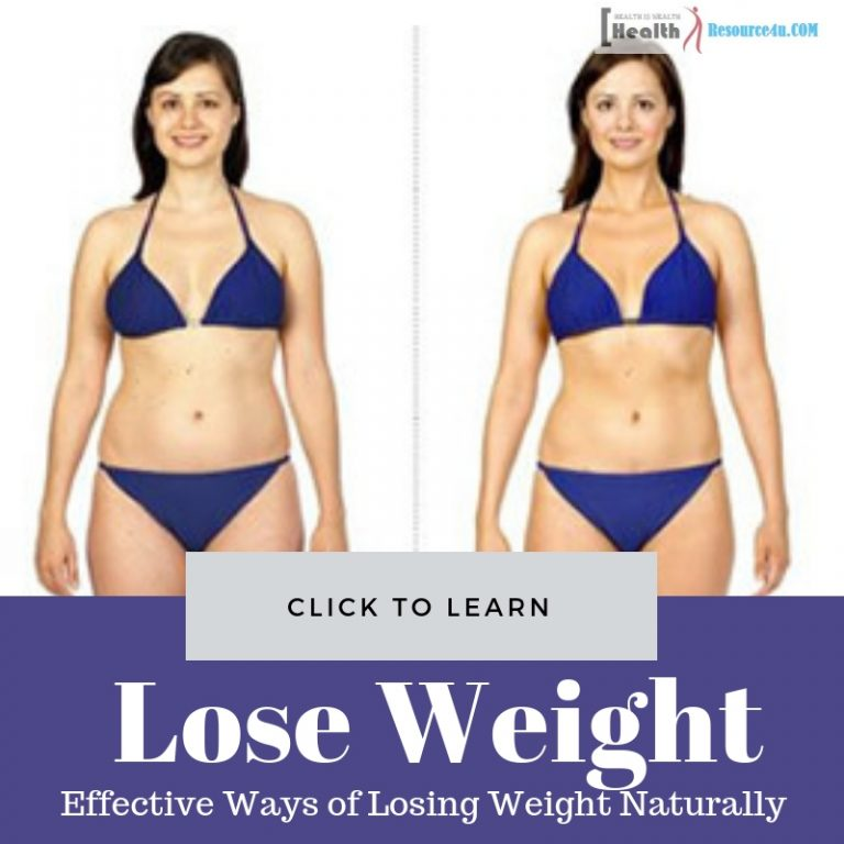 Effective Ways of Losing Weight Naturally
