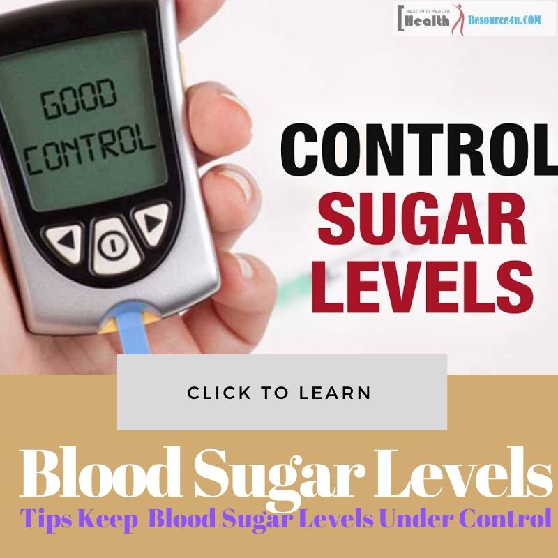 Blood Sugar Levels Under Control