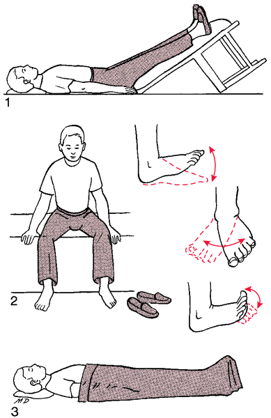 Elevating the feetFeet Exercises