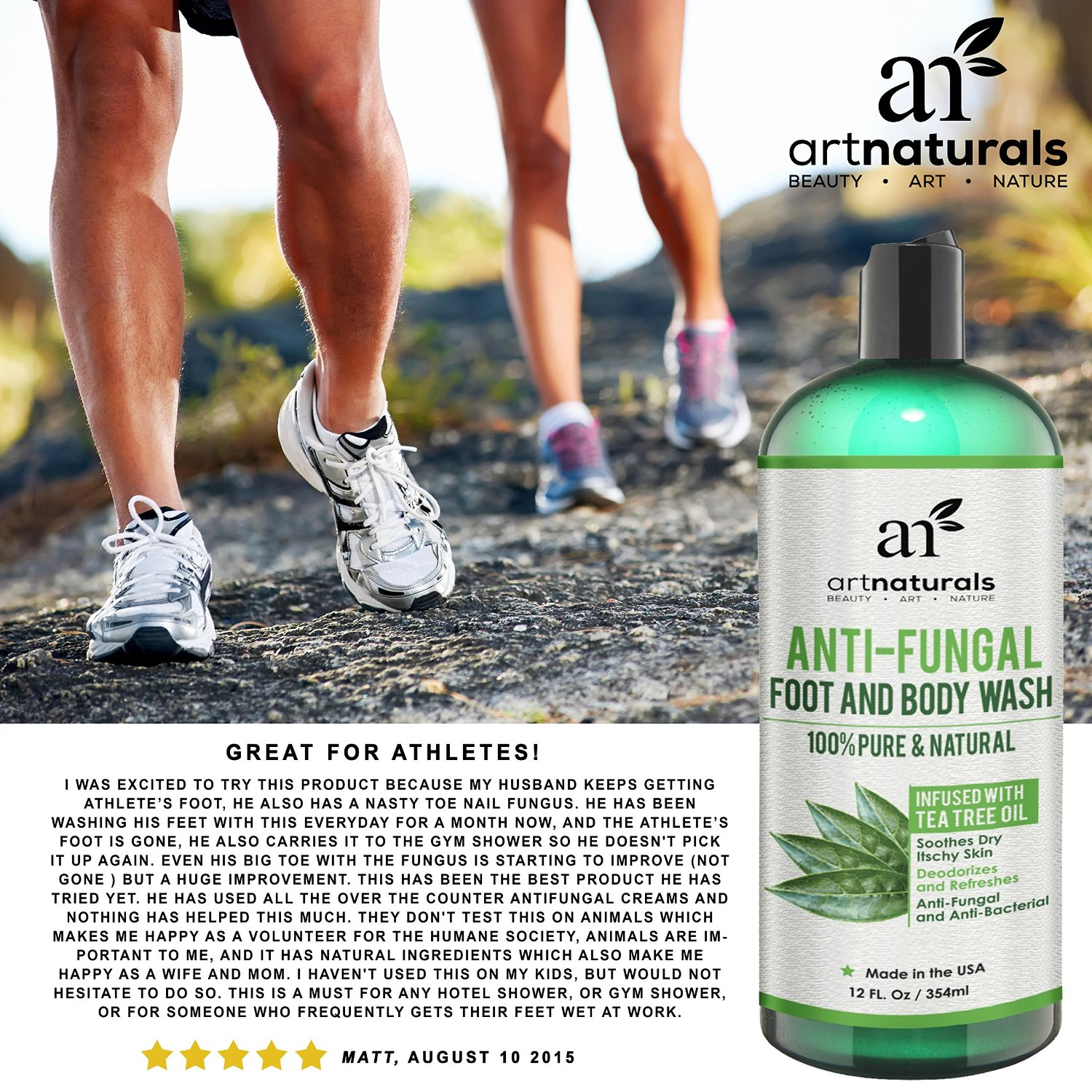 Artnaturals Body and Foot Wash for atheletes