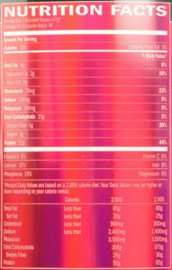 BSN SYNTHA-6 Protein Powder Nutritional Facts