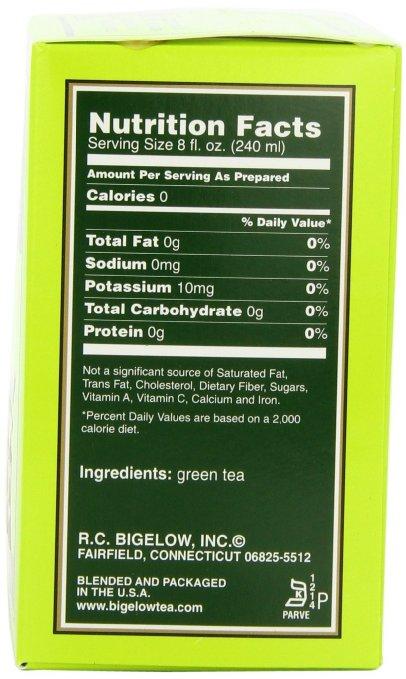 Bigelow green tea ingredients