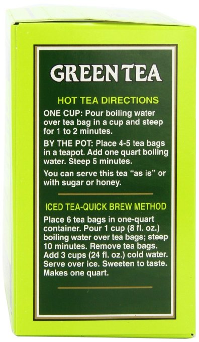 Bigelow green tea preparation steps