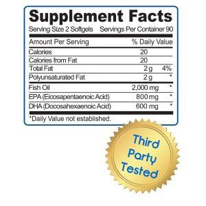 Dr. Tobias Optimum Omega 3 Fish Oil Formula and Ingredients