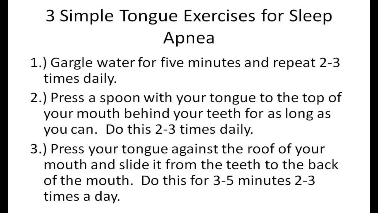 Tongue Exercises for Sleep Apnea