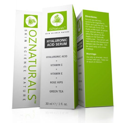OZ Naturals Hyaluronic Acid Serum Ingredients