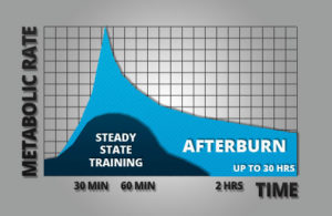 high intensity training fat burn chart