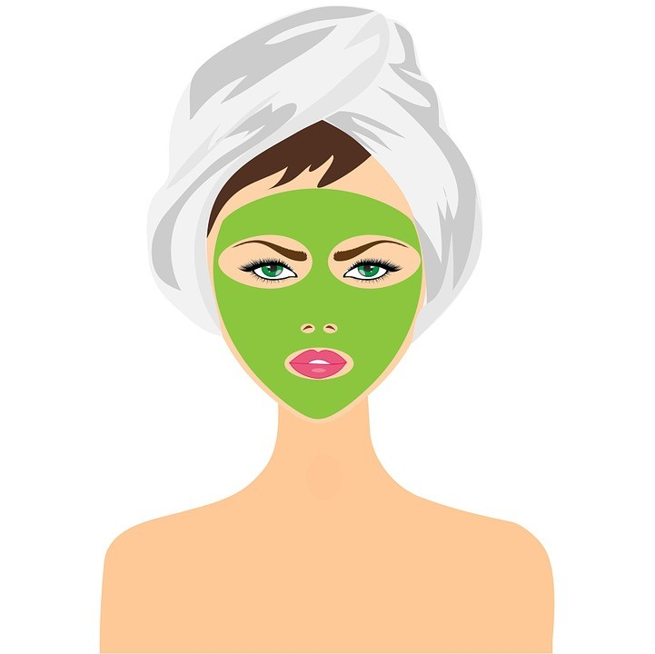 beauty treatment face mask girl