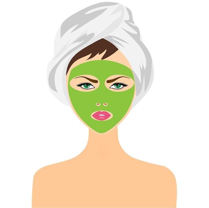 beauty treatment face mask girl