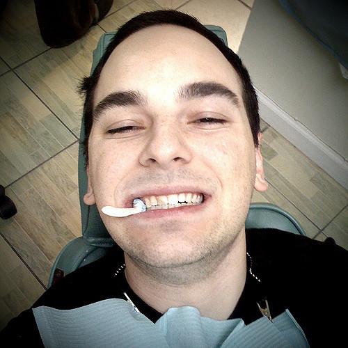 Brush teeth twice a day