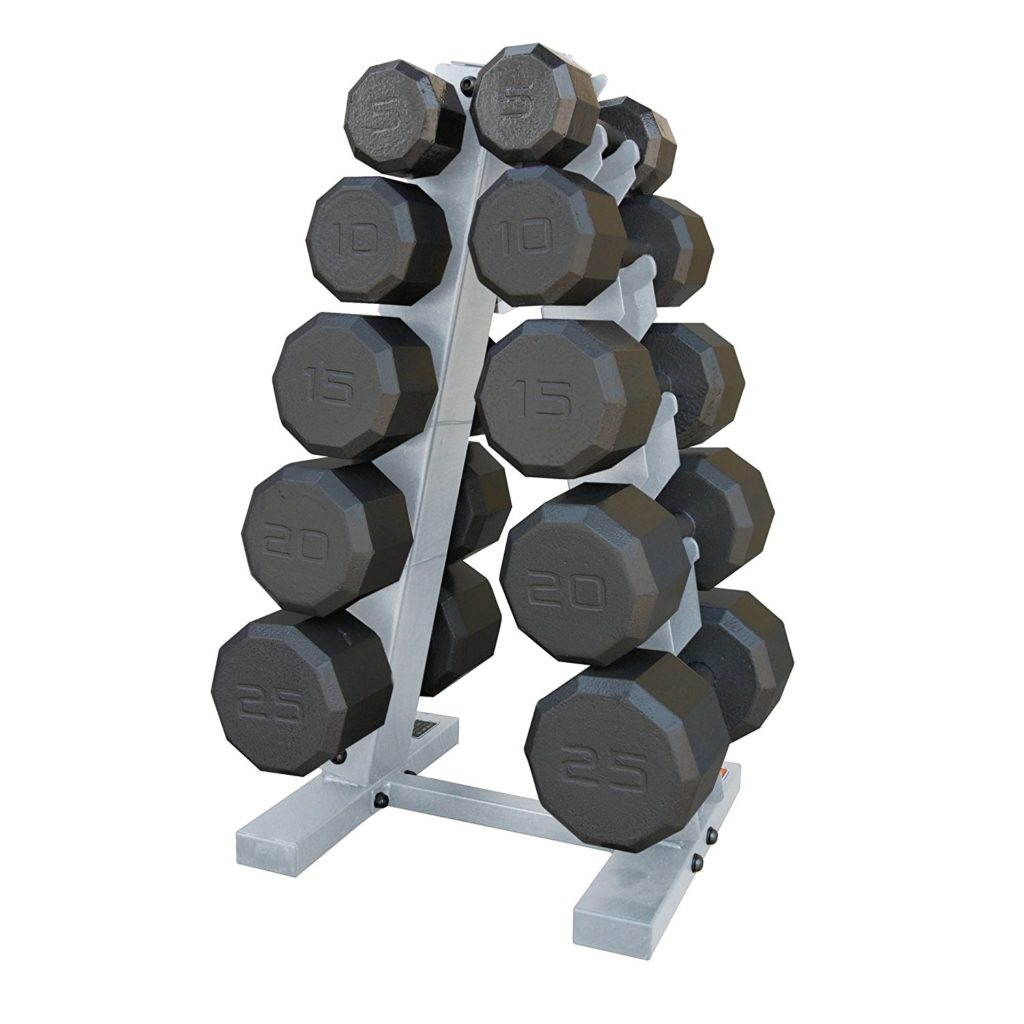 CAP Barbell 150 pound Eco Dumbbell Set with Rack