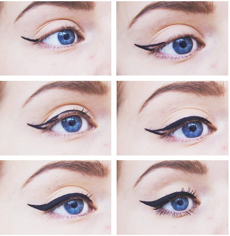 Perfect process for eyeliner application