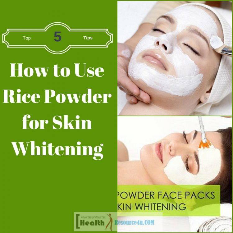 How to Use Rice Powder for Skin Whitening