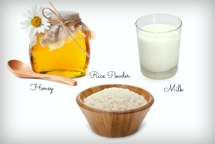 Milk and Rice Powder for Face Whitening