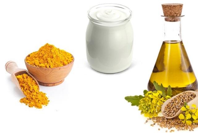 Rice Powder with Yogurt, Olive Oil, and Turmeric