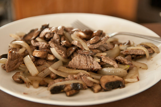 Roasted Steak and Onions