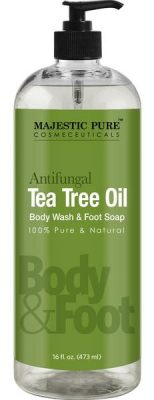 Antifungal Tea Tree Oil Soap- Body Wash by Majestic Pure