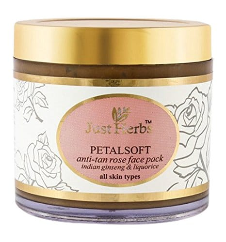 Just Herbs Petalsoft Rose Tan Removal Face Pack