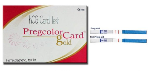 Pregcolor Card Pregnancy Test Kit