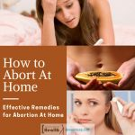 Effective Remedies for Abortion At Home