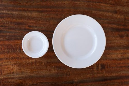 small plate and bowl