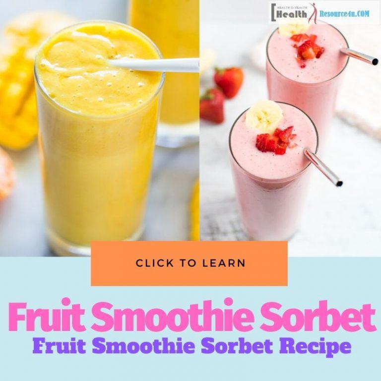 Fruit Smoothie Sorbet Recipe