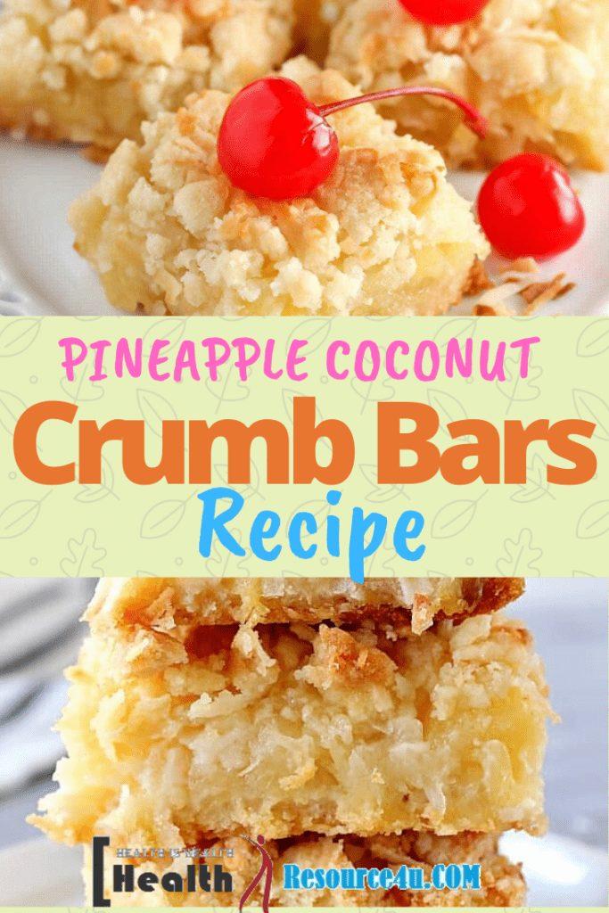 Pineapple Coconut Crumb Bars Recipe How to Make