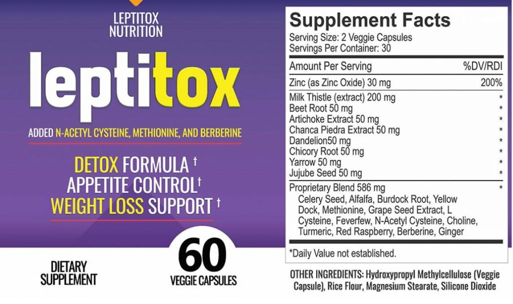 Ingredients of Leptitox Supplement