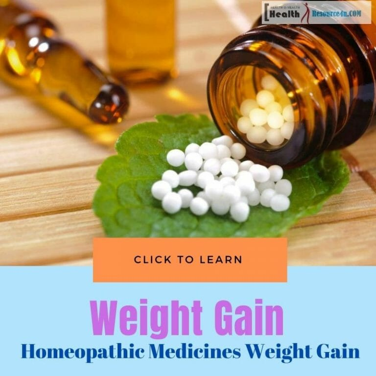 Homeopathic Medicines for Gaining Weight
